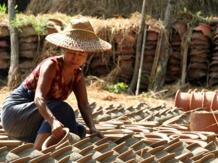 Oh-Bo Pottery Sheds, Ywante, Myanmar