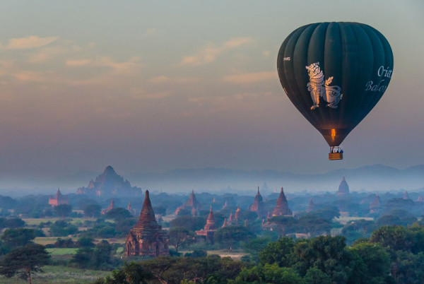 Balloon Ride Over Bagan, Myanmar