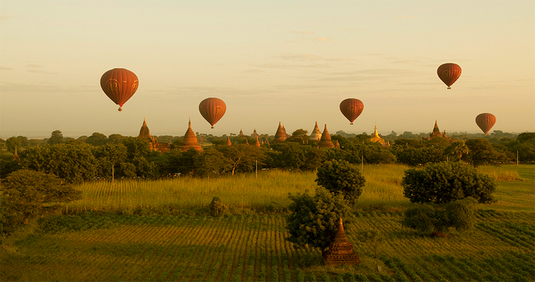 Bagan in the morning, Myanmar