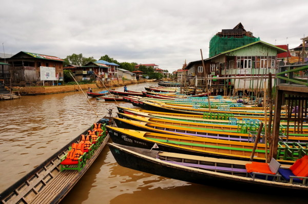 The Nyaungshwe village at Inle Lake