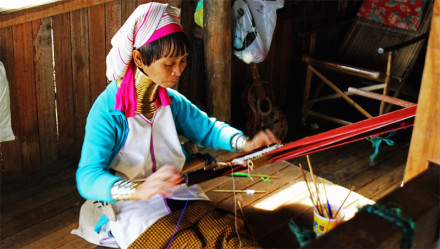 Kayan long-neck women in Myanmar