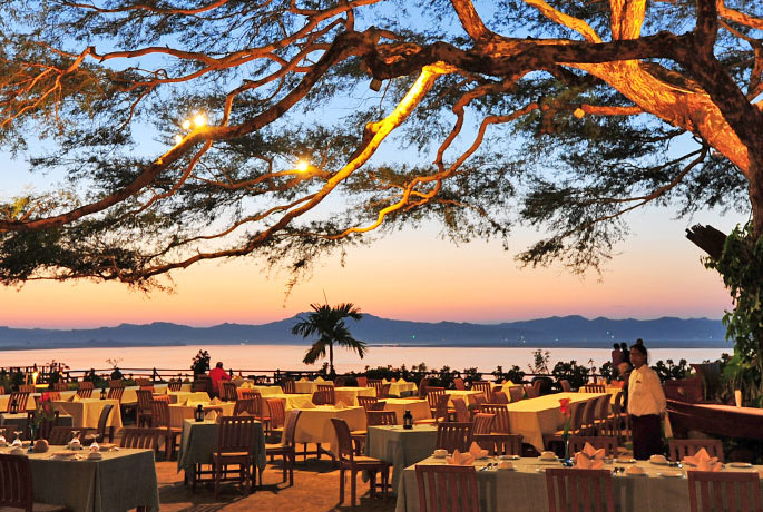 The Beach Restaurant in Bagan