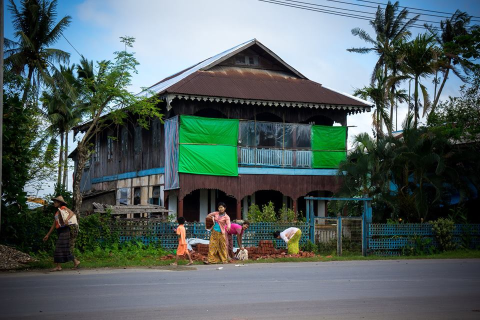 A local house at Sittwe Myanmar