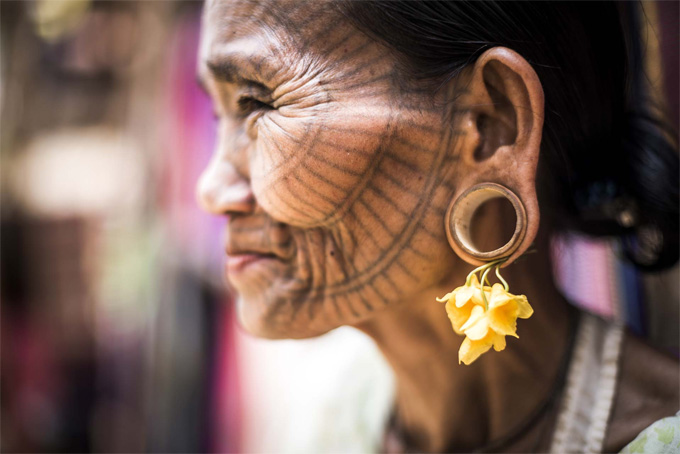 Chin Tribe Woman in Myanmar