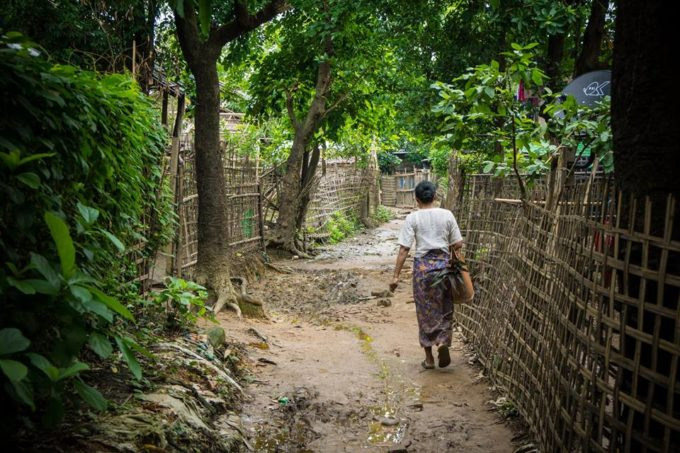 The way to a Chin ethnic group village in Mrauk U, Myanmar
