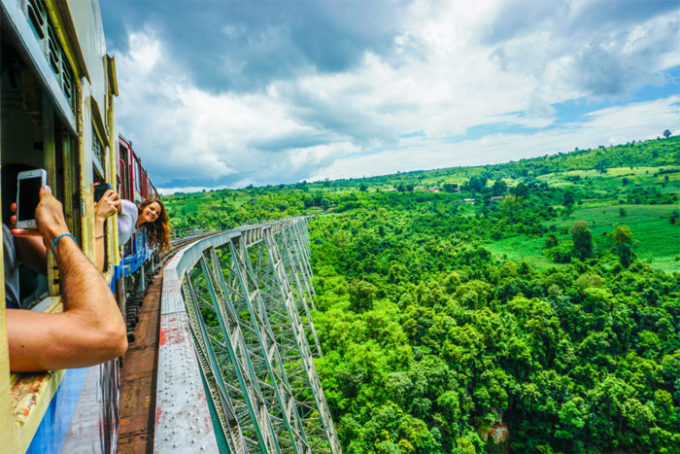 Take the train from Hsipaw to Pyin Oo Lwin