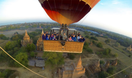 Best places for balloon flights in Myanmar