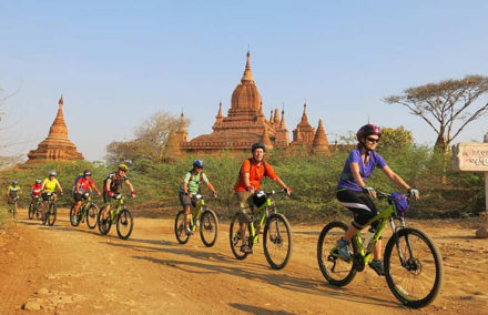 Cycle around Bagan Temples in Myanmar